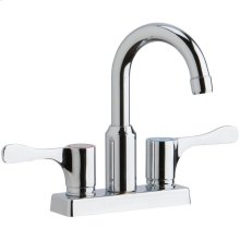 """Elkay 4"""" Centerset Exposed Deck Mount Faucet with Arc Spout and 4"""" Lever Handles"""