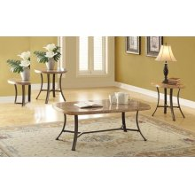 3PC PK C/T SET WH FAUX MARBLE