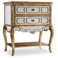 Bedroom Sanctuary Mirrored Leg Nightstand-Bling Product Image