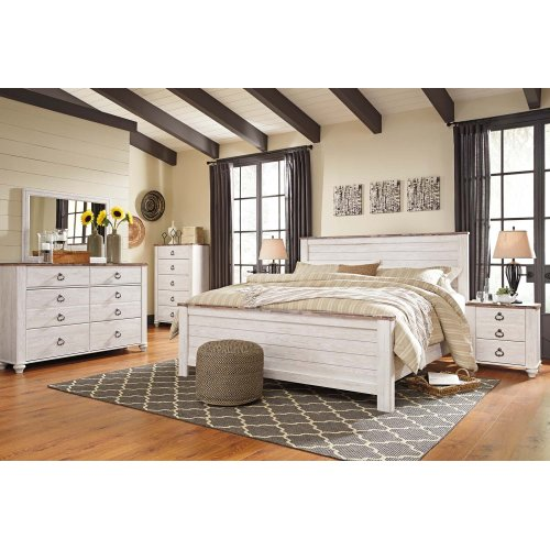Willowton - Whitewash 3 Piece Bed Set (King)