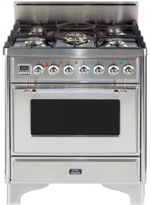 "Stainless Steel with Chrome Trim 30"" - 5 Burner Gas Range"