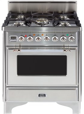 "Midnight Blue with Chrome Trim 30"" - 5 Burner Gas Range"