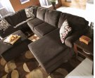 Vista - Chocolate 3 Piece Sectional Product Image