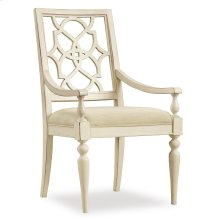 Dining Room Sandcastle Fretback Arm Chair - Upholstered Seat