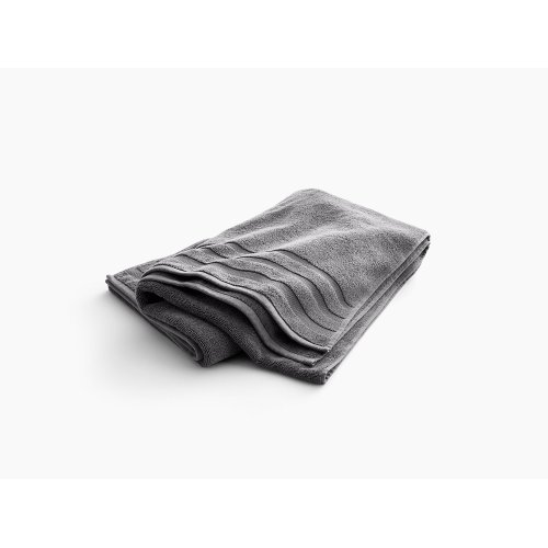 """Thunder Grey Bath Sheet With Terry Weave, 35"""" X 70"""""""