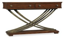 Living Room Palisade Cross Base Console Table