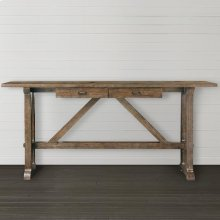 Western Brown Compass Console Table