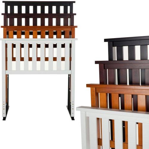 Belmont Wooden Headboard Panel with Slatted Grill Design, Merlot Finish, Twin