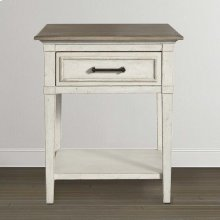 Bella Wood Top Bedside Table
