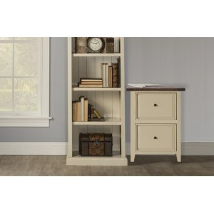 Tuscan Retreat® Small File Cabinet - Country White With Antique Pine Top