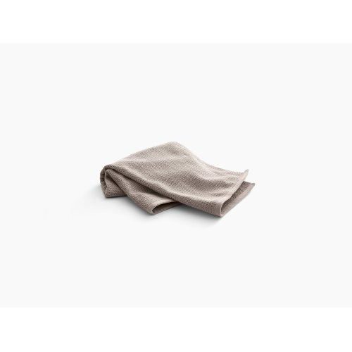 """Truffle Hand Towel With Textured Weave, 18"""" X 30"""""""