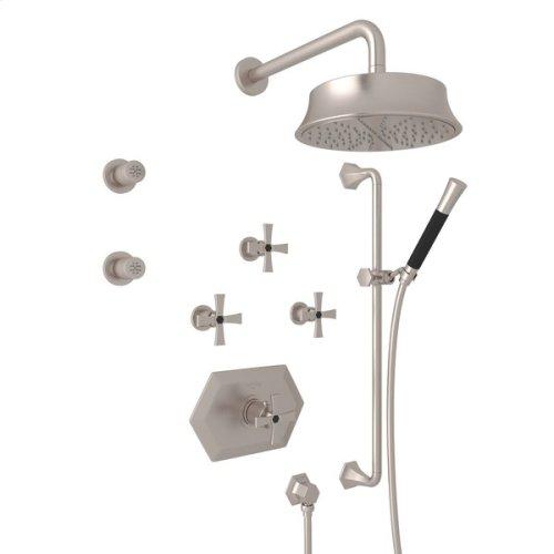 Satin Nickel Bellia Bekit370l Thermostatic Shower Package