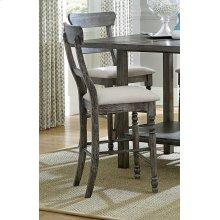 Ladderback Counter Chair (2/Carton) - Weathered Pepper Finish