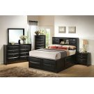 Briana Transitional Black Queen Bed Product Image