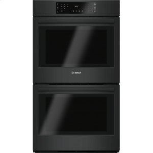 "Bosch800 Series, 30"", Double Wall Oven, BL, EU conv./Thermal, Touch Control"