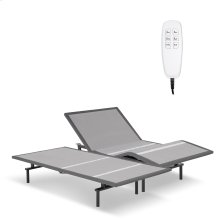 Pro-Motion 2.0 Low-Profile Adjustable Bed Base with Simultaneous Movement and MicroHook Technology, Charcoal Gray Finish, Split Queen