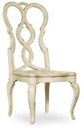 Dining Room Auberose Splatback Wood Seat Side Chair