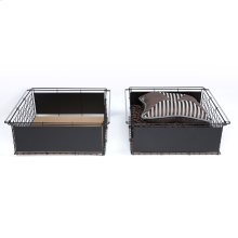 Atlas Metal Slide-Out Drawer for Bed Base Support System, 2-Pack