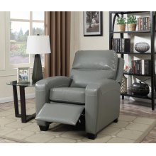Yukon Gray Push-Back Recliner Chair