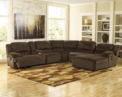 Toletta - Chocolate 5 Piece Sectional