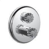 "1/2"" Thermostatic Trim With Volume Control and 2-way Diverter in Polished Chrome"