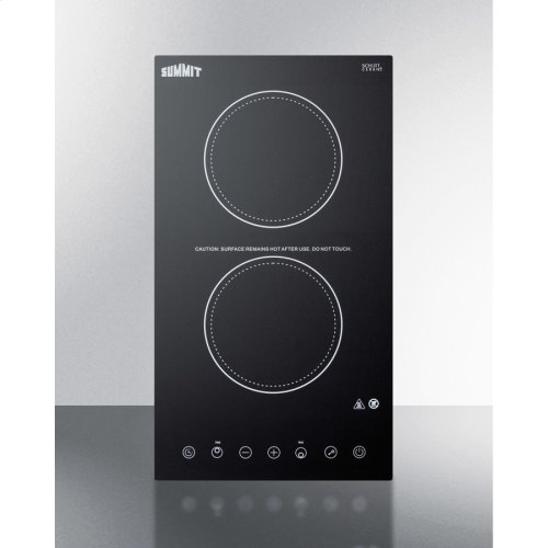 115v 2-burner Cooktop In Black Ceramic Schott Glass With Digital Touch Controls, 2400w