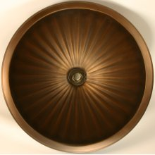 Bronze Large Round Fluted