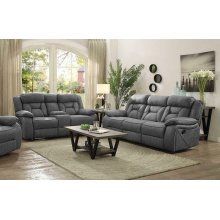 Houston Casual Stone Reclining Two-piece Living Room Set