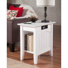 Nantucket Chair Side Table with Charger White