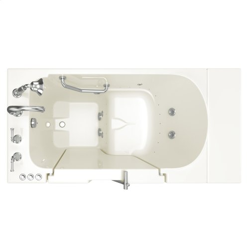 Gelcoat Series 30x52-inch Outward Opening Door Walk-In Bathtub with Combo Air Spa and Whirlpool Massage Systems  American Standard - Linen