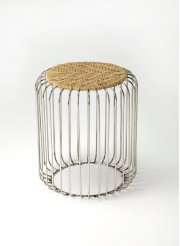 This round stool brings stylish versatility to your living space. Perfectly sized for duty as a stool or an ottoman and ready to switch gears at a moments notice. It sits nice and firm for excellent support yet offers a touch of comfort with a natural jut Product Image