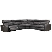 Samperstone - Gray 6 Piece Sectional