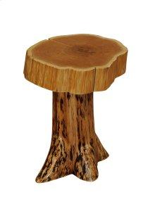Cedar Stump Nightstand with Slab Top