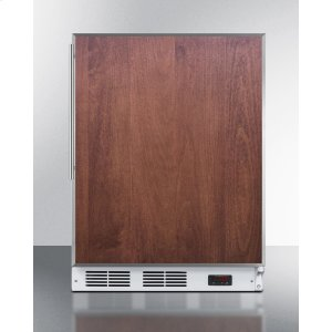 SummitADA Compliant Built-in Medical All-freezer Capable of -25 C Operation; White Exterior With Stainless Steel Door Frame To Accept Custom Panels