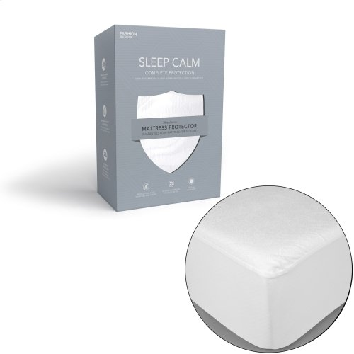 Sleep Calm Mattress Protector with Stain and Dust Mite Defense