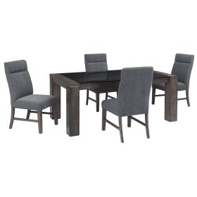 Chansey - Dark Gray 5 Piece Dining Room Set