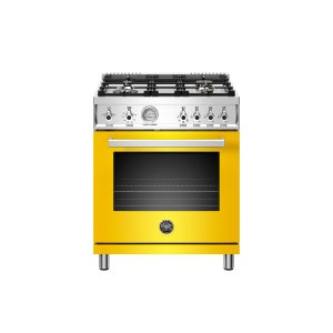 Bertazzoni30 inch All Gas Range, 4 Brass Burner Giallo