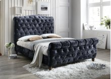 Laura Black Queen Headboard