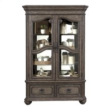 Traditional Heritage 3 Shelf Lighted China Cabinet Deck