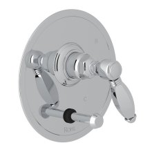 Polished Chrome Italian Bath Pressure Balance Trim With Diverter with Metal Hex Lever