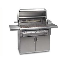 "42"" grill on refrigerated cart with Sear Zone"
