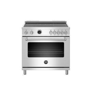 Bertazzoni36 inch Induction Range, 5 Heating Zones, Electric Self-Clean Oven Stainless