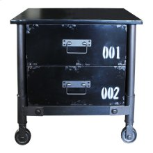 Soho 2 Drawer Cabinet Black