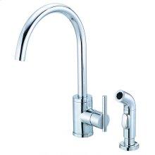 Chrome Parma® Single Handle Kitchen Faucet