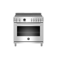 36 inch Induction Range, 5 Heating Zones, Electric Self-Clean Oven Stainless Steel
