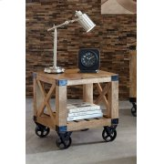 Industrial Natural Mango End Table Product Image