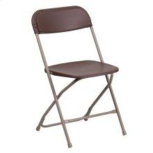 650 lb. Capacity Premium Brown Plastic Folding Chair