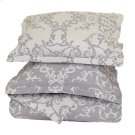 Lido Jacquard Charcoal Queen Duvet 92x90 Product Image