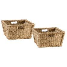 Tuscan Retreat® Blanket Bench Baskets (2) - Seagrass