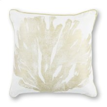 """Pillow L303 Ivory/gold Coral 18"""" X 18"""""""